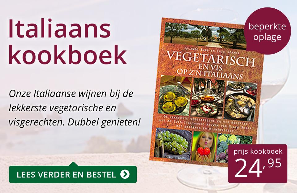 Italiaans kookboek (24,95) - paars