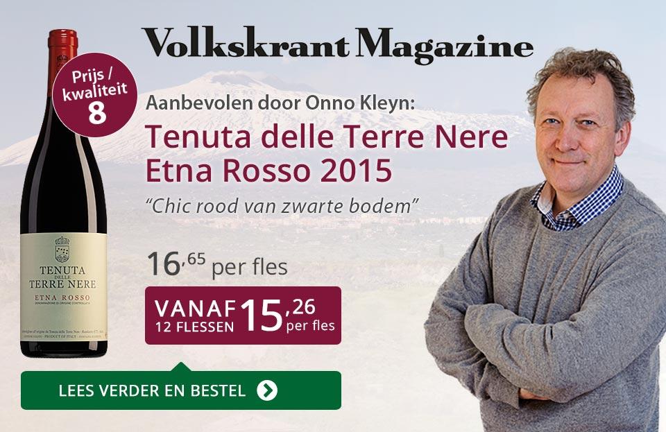 Volkskrant Magazine: Tenuta delle Terre Nere Etna Rosso - paars
