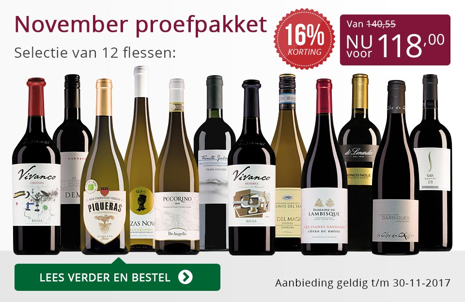 Proefpakket wijnbericht november 2017 (118,00) - paars
