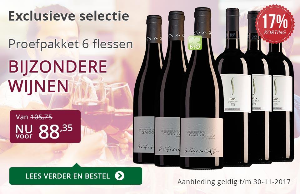 Proefpakket bijzondere wijnen november 2017 (88,35) - paars