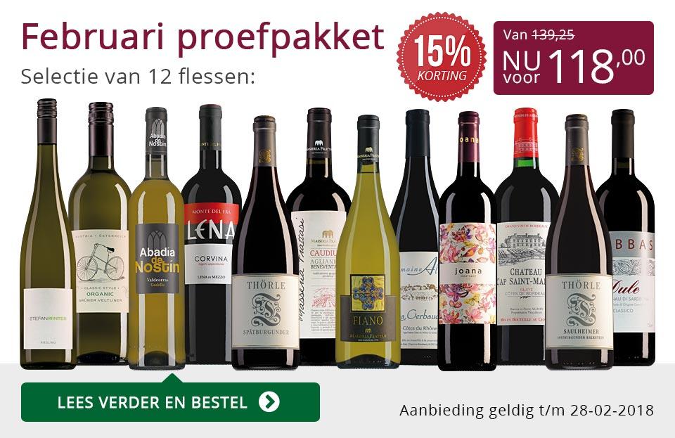 Proefpakket wijnbericht februari 2018 (118,00) - paars