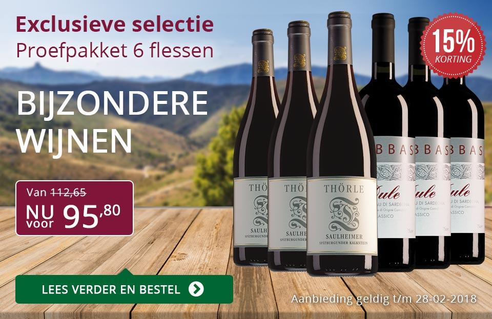 Proefpakket bijzondere wijnen februari 2018 (95,80) - paars