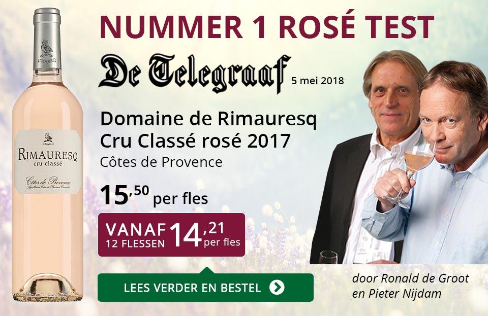 Dia Nr 1 Telegraaf rosé test - Rimauresq Cru Classé 2017 - paars