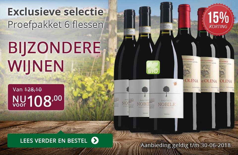 Proefpakket bijzondere wijnen juni 2018 (108,00) - paars