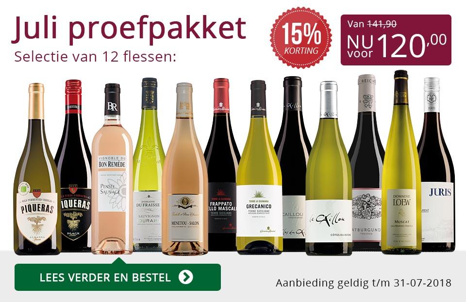 Proefpakket wijnbericht juli 2018 (120,00) - paars