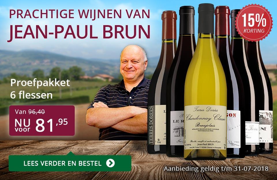 Jean-Paul Brun prachtige wijnen (81,95) - paars