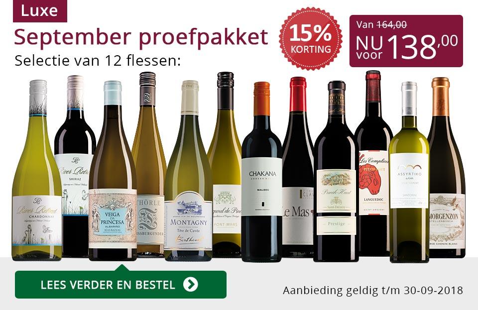 Proefpakket luxe wijnbericht september 2018 (138,00) - paars