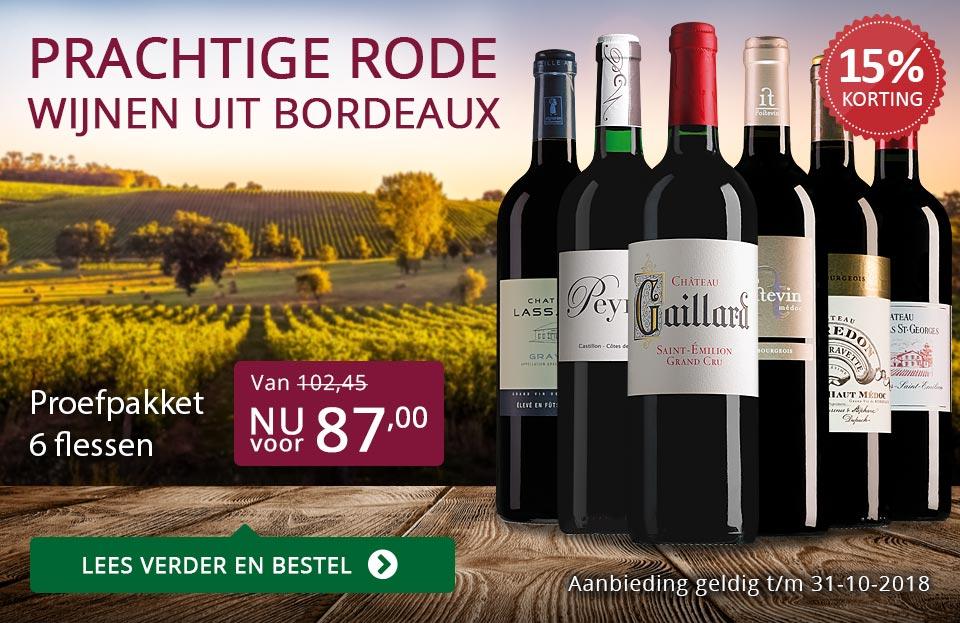Proefpakket rode Bordeaux (87,00)- paars