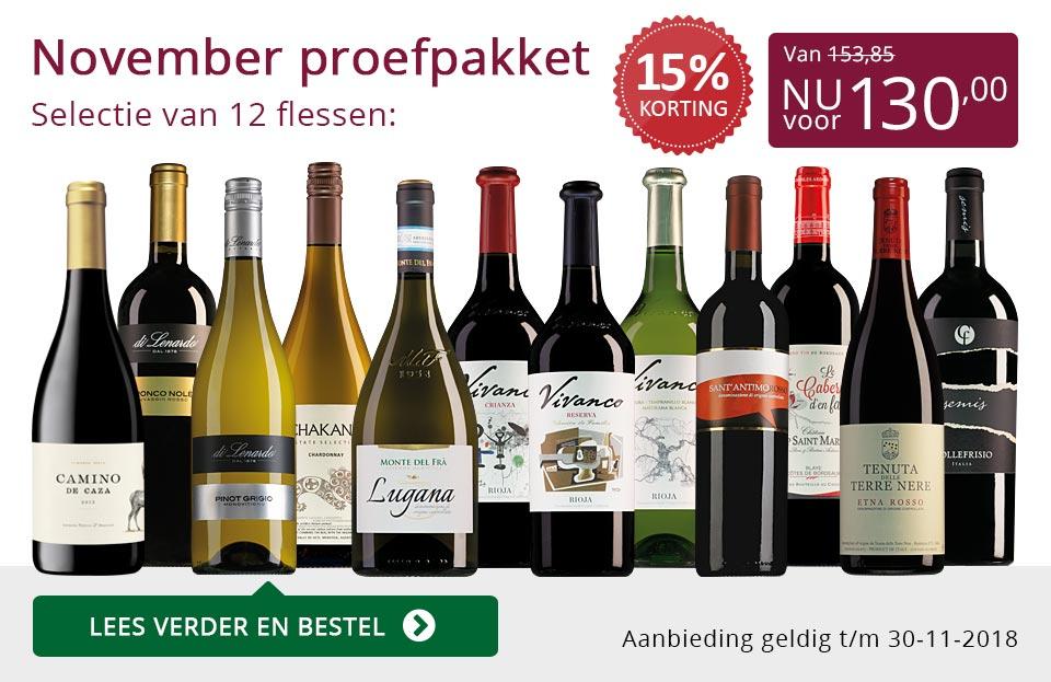 Proefpakket wijnbericht november 2018 (130,00) - paars