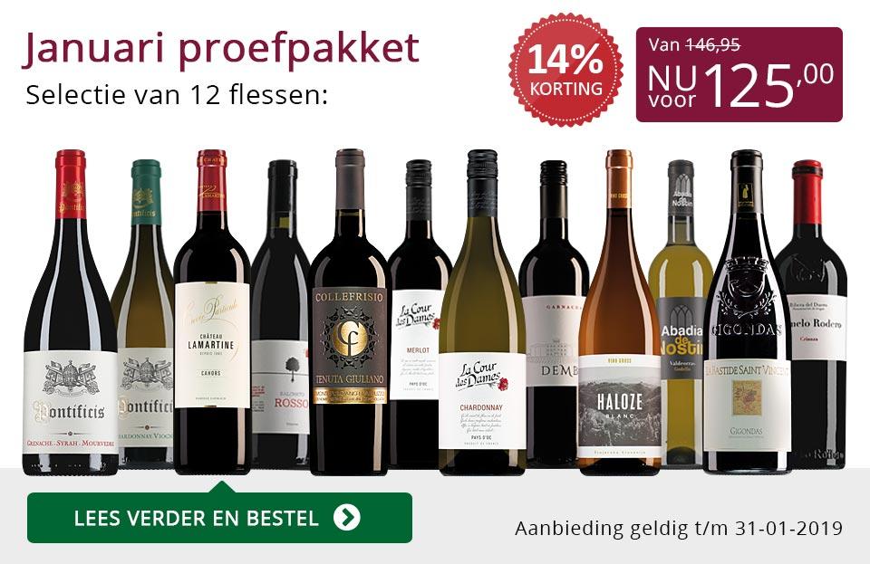 Proefpakket wijnbericht januari 2019 (125,00) - paars