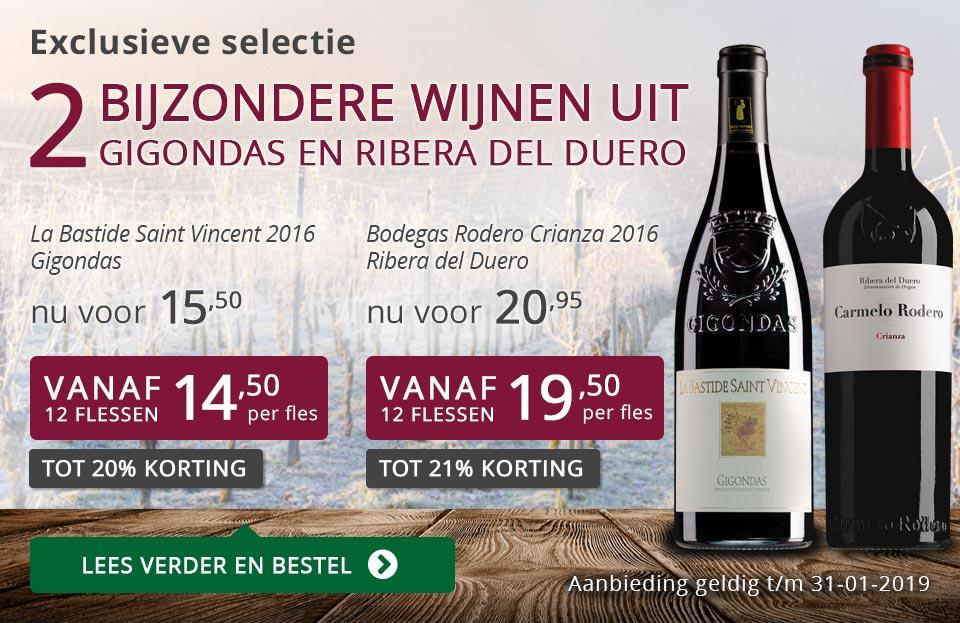 Twee bijzondere wijnen januari 2019 - paars