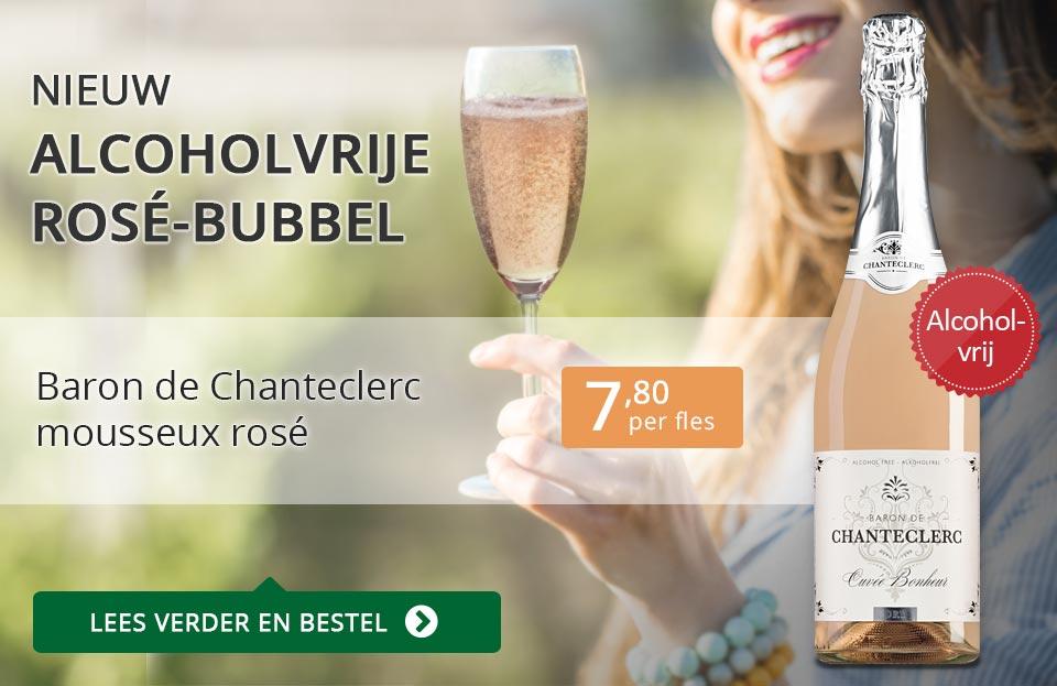 Alcoholvrije rosé bubbel - Baron de Chanteclerc Mousseux