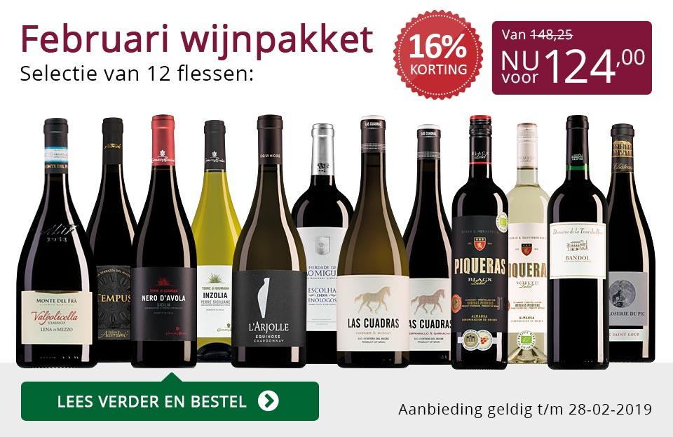 Wijnpakket wijnbericht februari 2019 (124,00) - paars