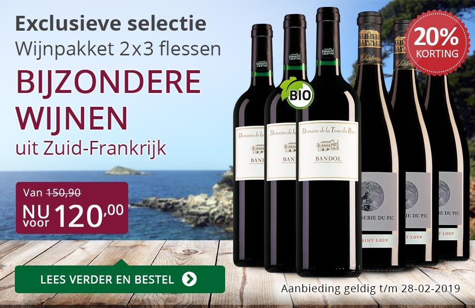 Wijnpakket bijzondere wijnen februari 2019 (120,00) - paars
