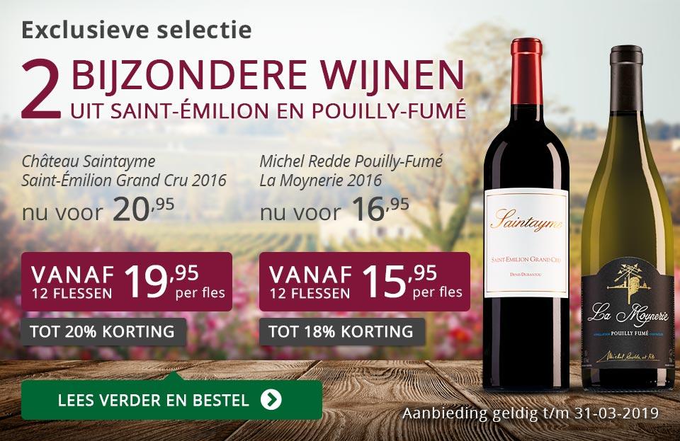 Twee bijzondere wijnen maart 2019 - paars