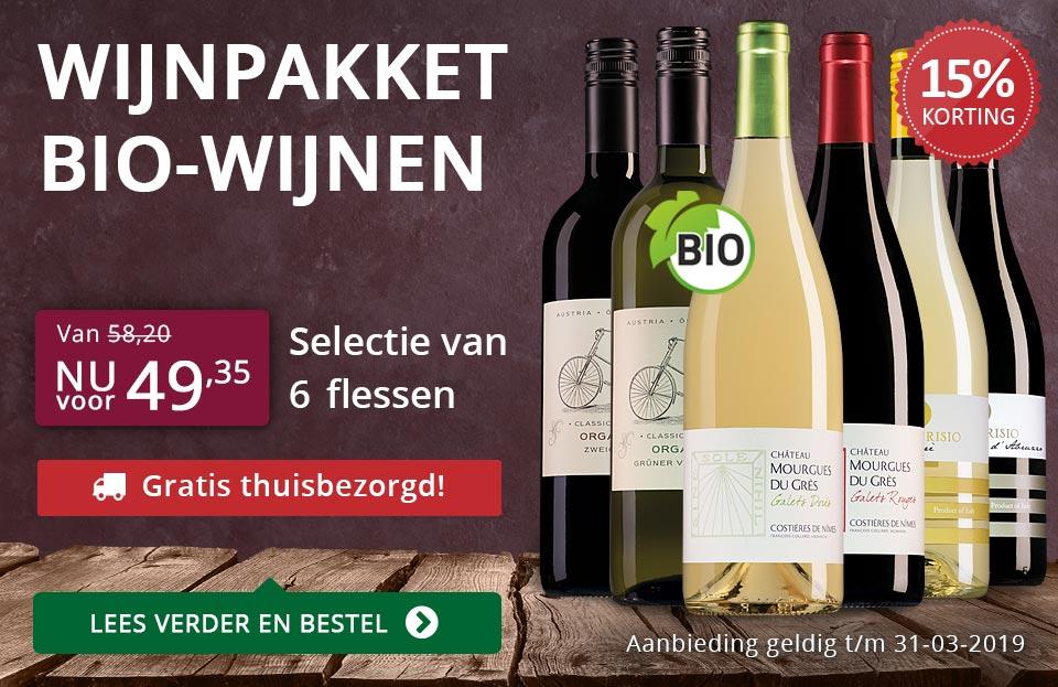 Wijnpakket BIO (49,35) - gratis thuisbezorgd - paars