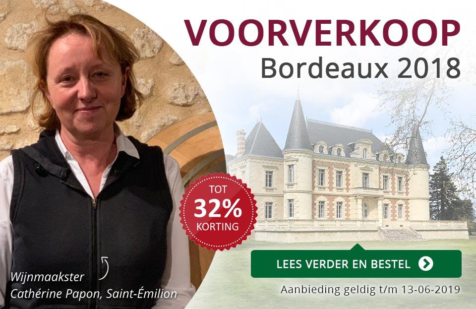 Voorverkoop Bordeaux En Primeur 2018 - paars