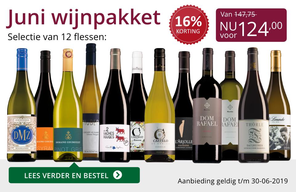 Wijnpakket wijnbericht juni 2019 (124,00) - paars