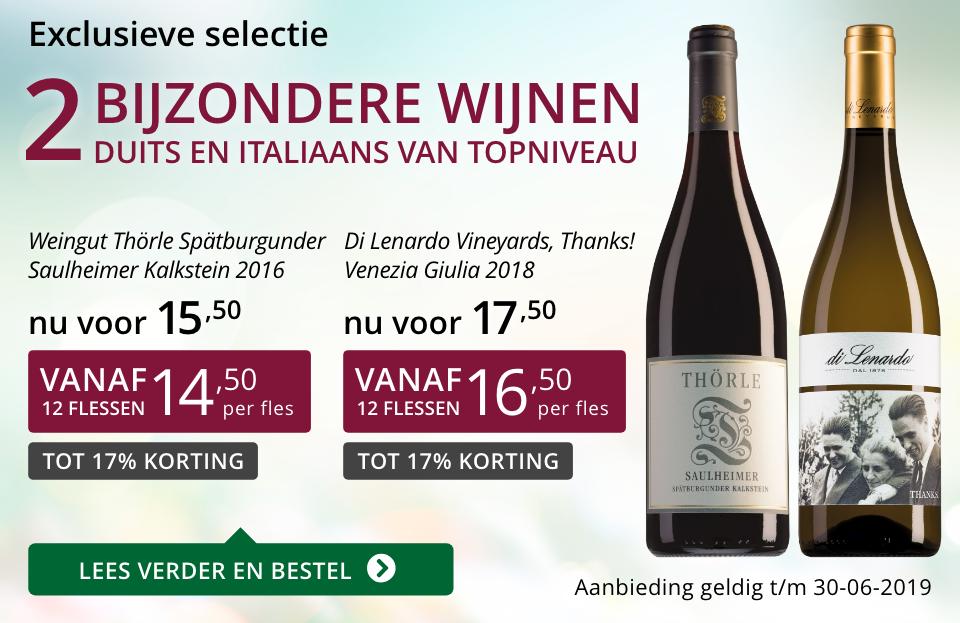 Twee bijzondere wijnen juni 2019 - paars