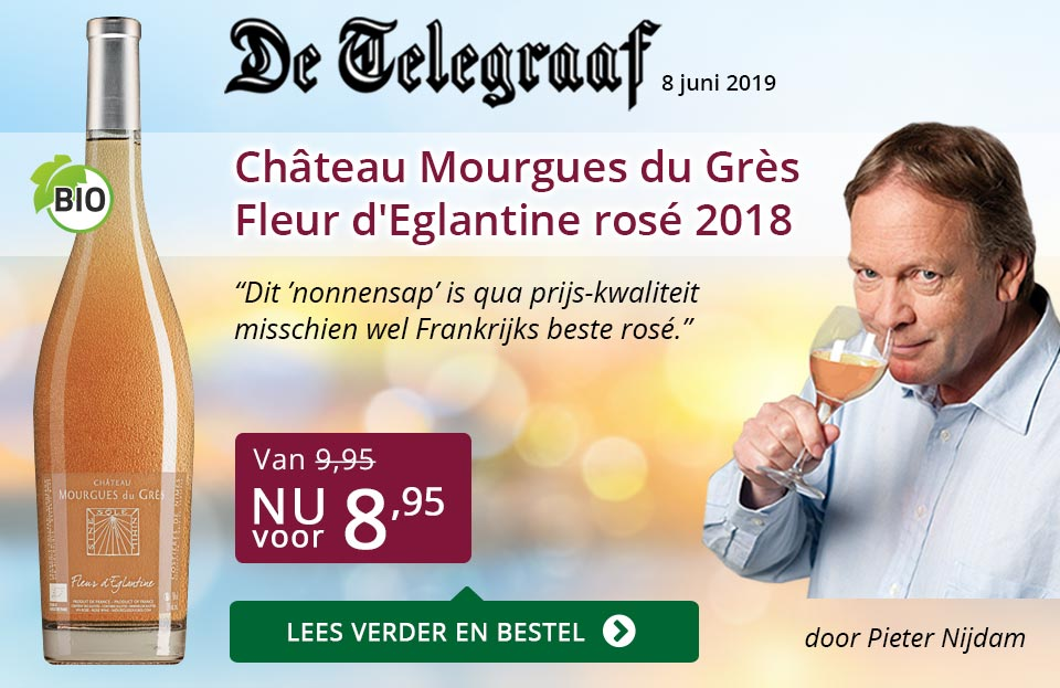 Telegraaf vermelding - Mourgues du Gres - paars