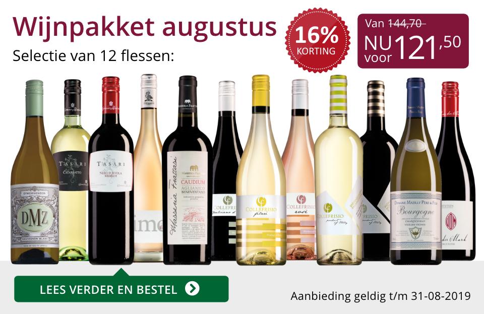 Wijnpakket wijnbericht augustus 2019 (121,50) - paars