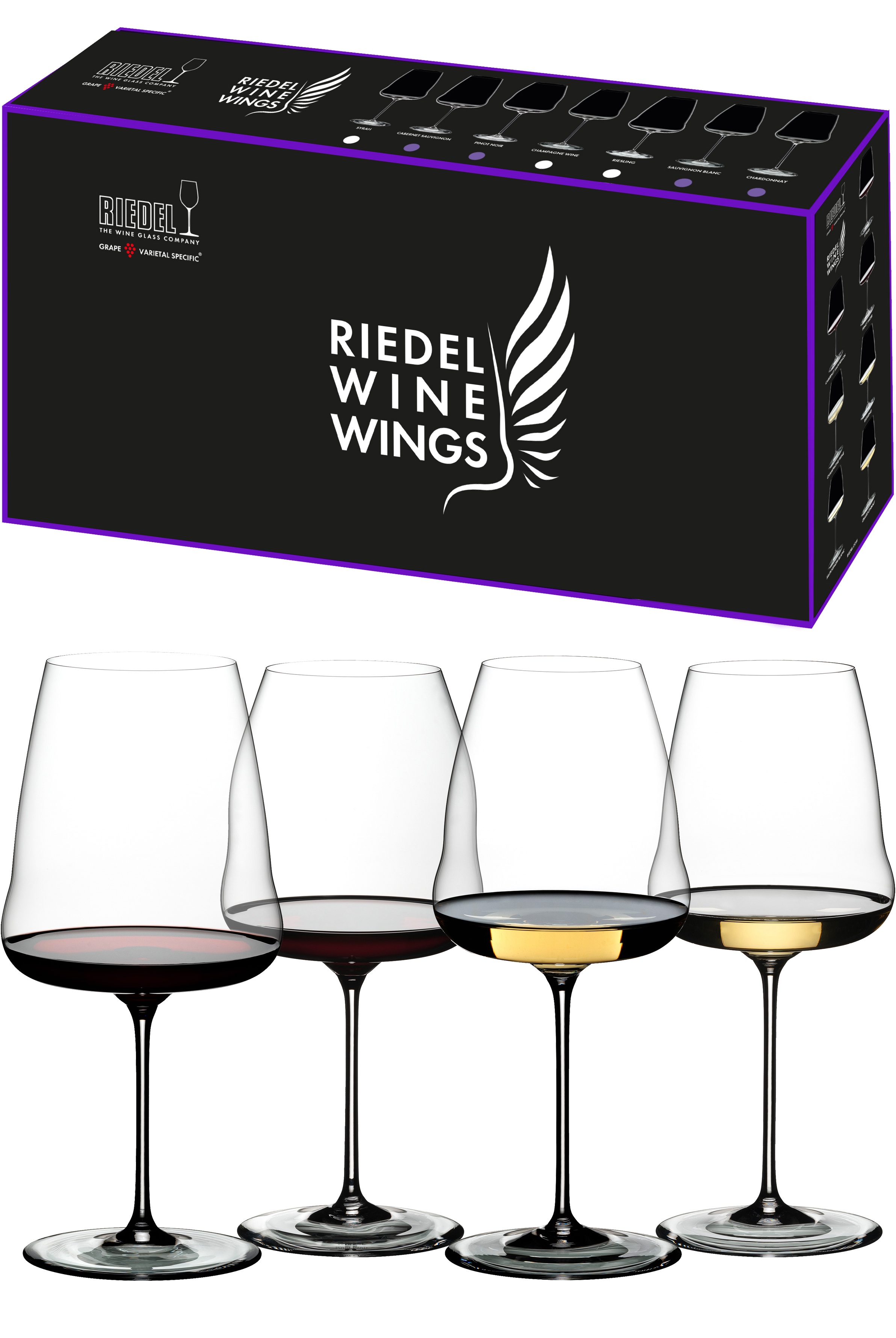 Riedel Winewings Tasting Set wijnglazen (set van 4 voor € 104,00)