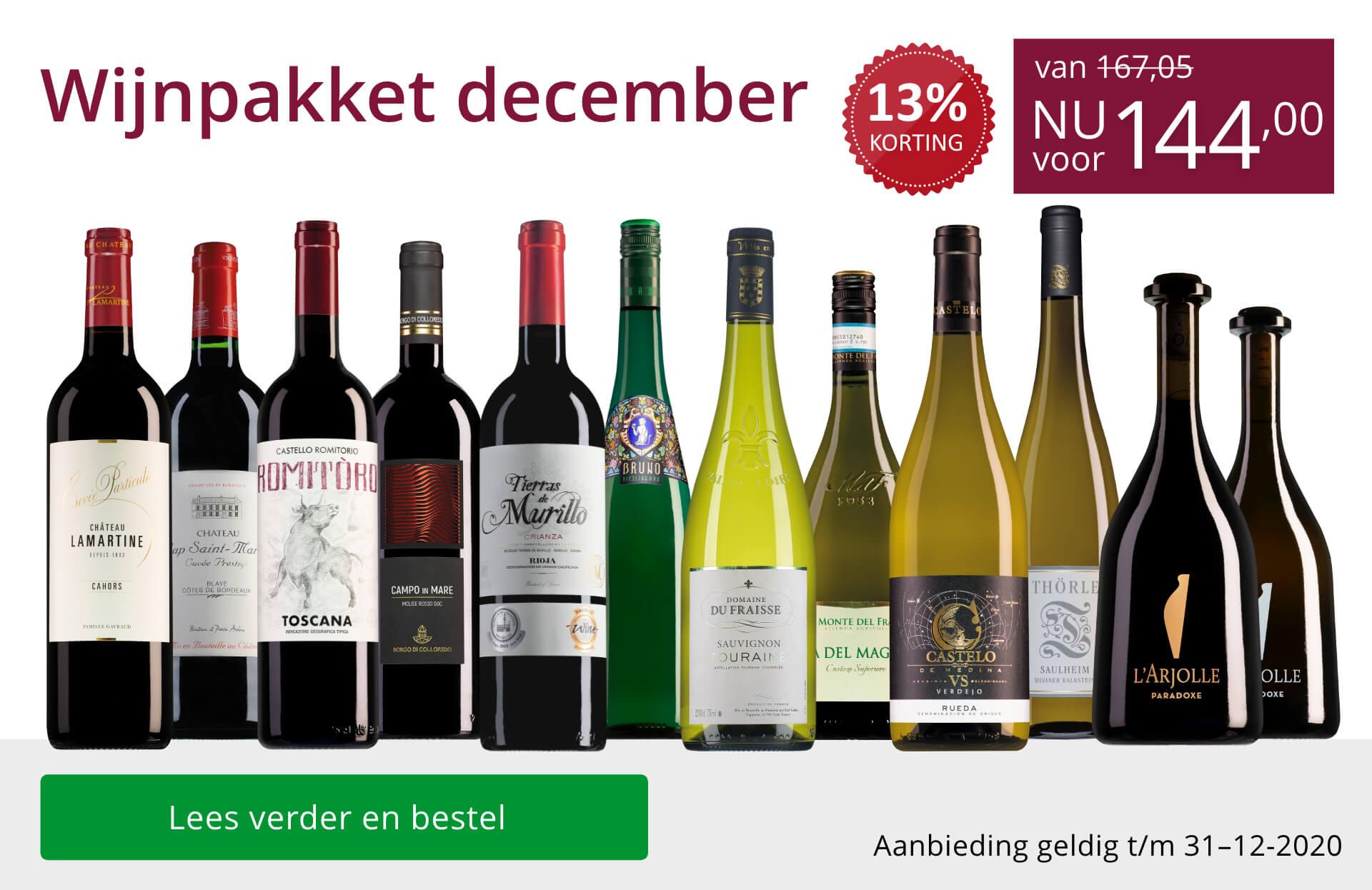 Wijnpakket wijnbericht december 2020 (144,00) - paars