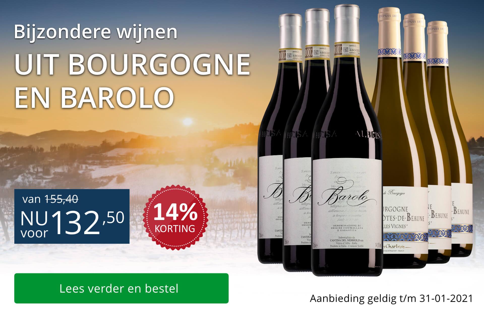 Wijnpakket bijzondere wijnen januari 2021 (132,50) - blauw