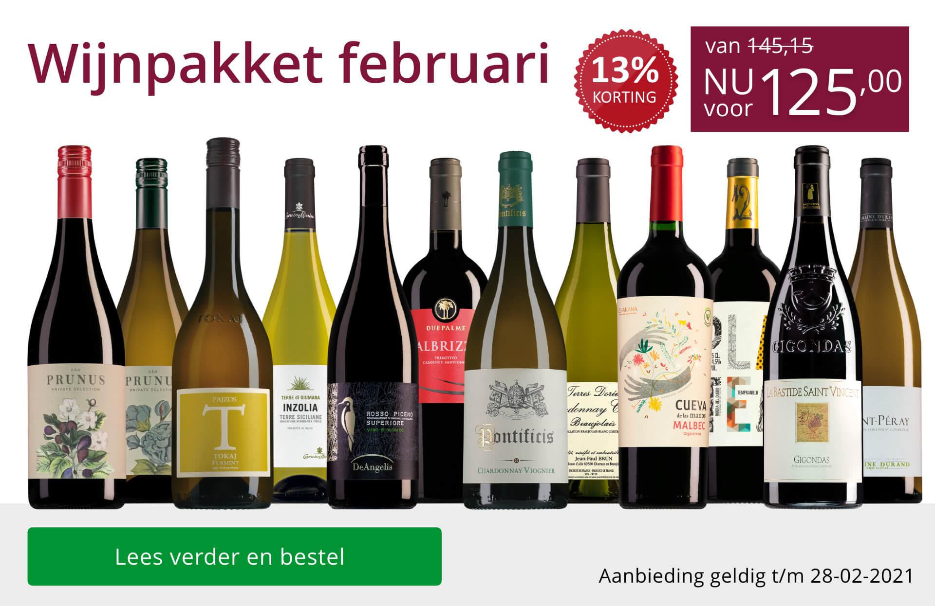 Wijnpakket wijnbericht februari 2021(125,00)-paars