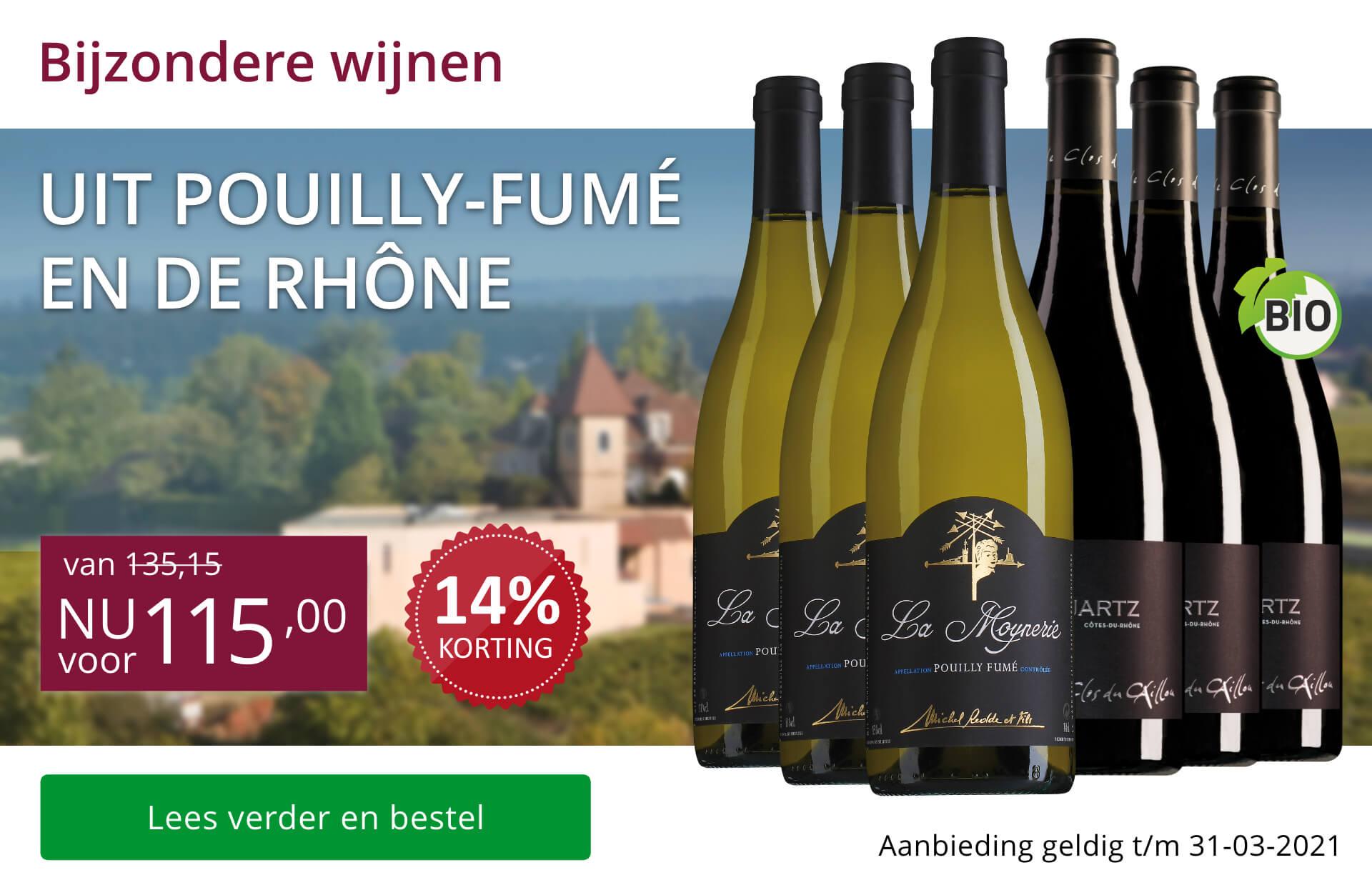 Wijnpakket bijzondere wijnen maart 2021 (115,00) - paars