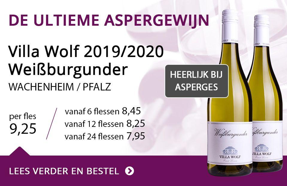 Villa wolf weisburgunder - De ultieme aspergewijn