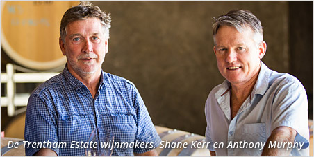 De Trentham Estate wijnmakers, Shane Kerr en Anthony Murphy