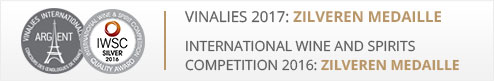 Vinalies 2017: Zilveren medaille en International Wine and Spirits competition 2016: Zilveren medaille
