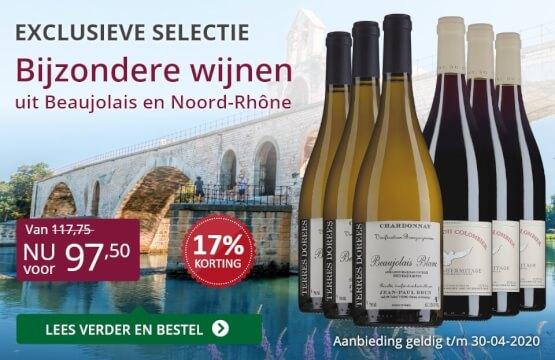 Wijnpakket bijzondere wijnen april 2020 (97,50)-paars
