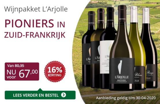 Wijnpakket l'Arjolle(67,00)-paars